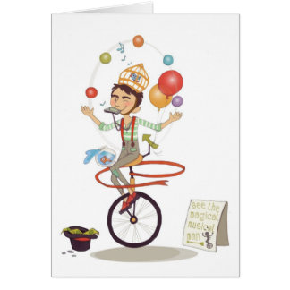 Magical Musical Man (notecard) Card