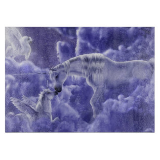 Magical & Mystical Fantasy Unicorns Night Sky Cutting Board