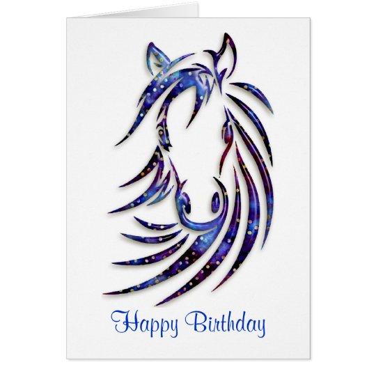 Magical Mystical Horse Portrait Birthday Card