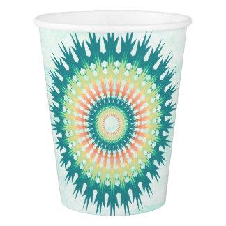Magical Mystical Mandala Turquoise Orange Cups
