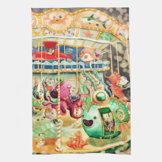 Magical Nautical Carousel Kitchen Towels