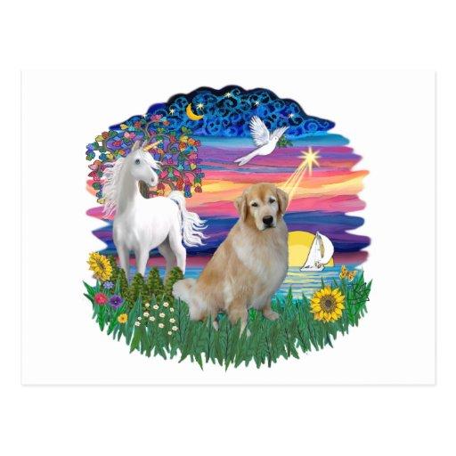 Magical Night - Golden Retriever (#10) Post Cards