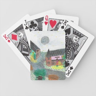 Magical Night Nighttime Scene Bicycle Cards