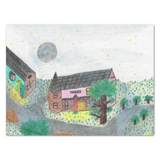 Magical Night Nighttime Scene Gift Tissue Tissue Paper