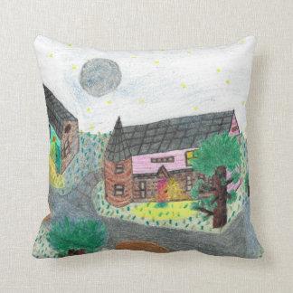 Magical Night Nighttime Scene Pillow