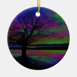 Magical Night Time Ceramic Ornament