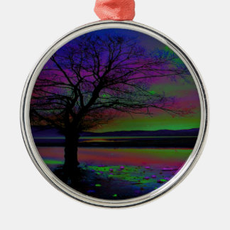 Magical Night Time Metal Ornament