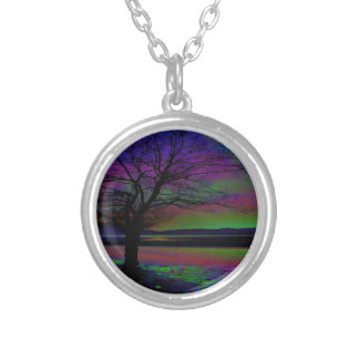 Magical Night Time Silver Plated Necklace