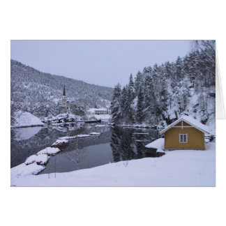 Magical Norwegian Winter Scenery Blank Card