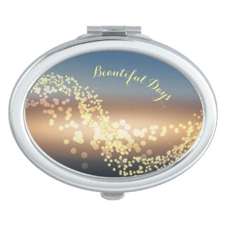 Magical ocean designed oval mirror compact makeup mirrors