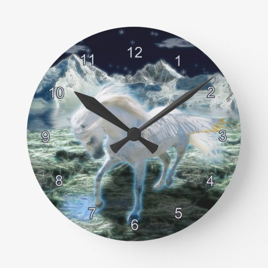 Magical Pegasus Fantasy Art Wall Clock