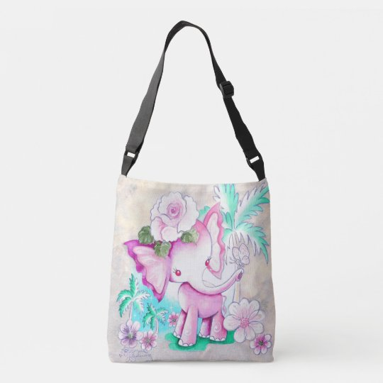 Magical Pink Elephant Crossbody Bag