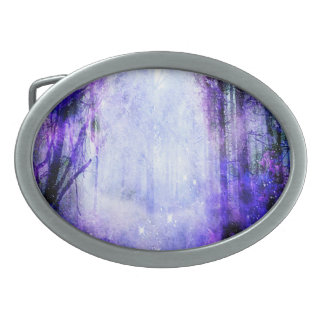 Magical Portal in the Forest Belt Buckles