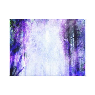 Magical Portal in the Forest Canvas Print