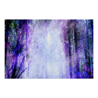 Magical Portal in the Forest Poster