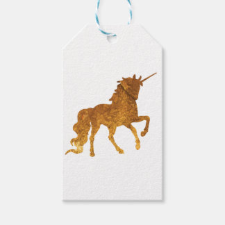 Magical Prancing golden Unicorn various colors Gift Tags