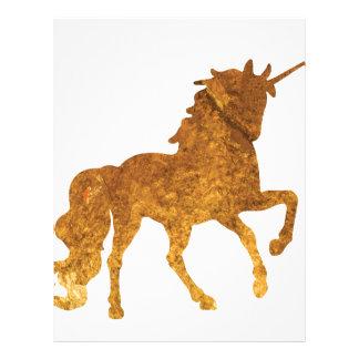 Magical Prancing golden Unicorn various colors Letterhead