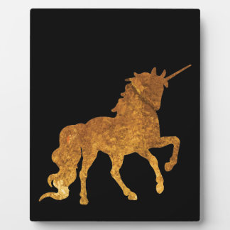 Magical Prancing golden Unicorn various colors Plaque