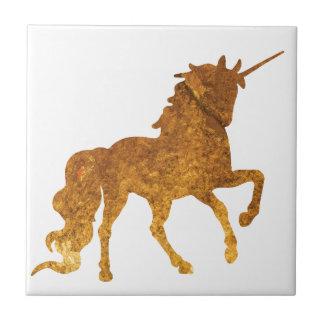 Magical Prancing golden Unicorn various colors Tile