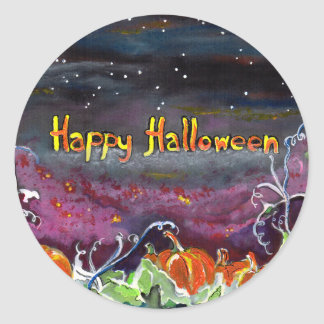 Magical Pumpkins Halloween Collection Classic Round Sticker