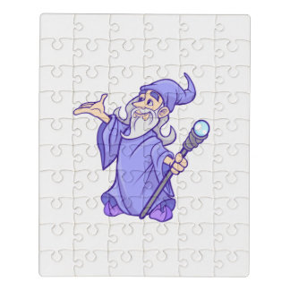 Magical purple wizard magician sorceress jigsaw puzzle