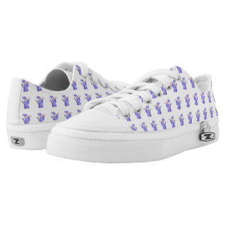 Magical purple wizard magician sorceress Low-Top sneakers