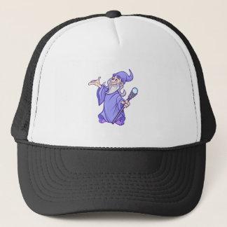 Magical purple wizard magician sorceress trucker hat