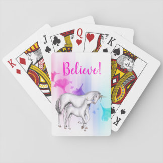 Magical Rainbow and Unicorn Mother and Baby Playing Cards