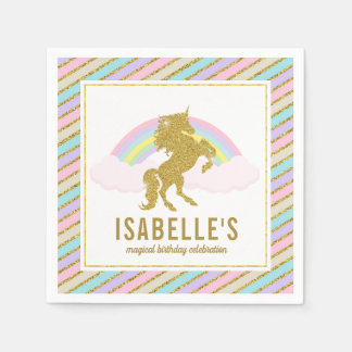 Magical Rainbow and Unicorn Napkins Disposable Napkin