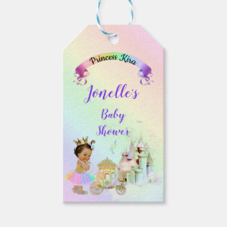 Magical Rainbow Princess Castle Carriage Gift Tags