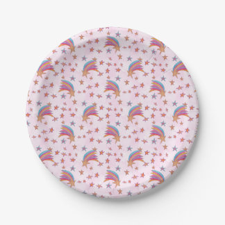 Magical Rainbow Stars Paper Plate