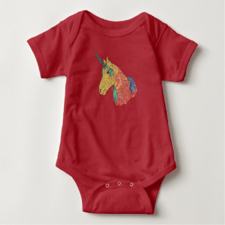 Magical rainbow unicorn baby bodysuit