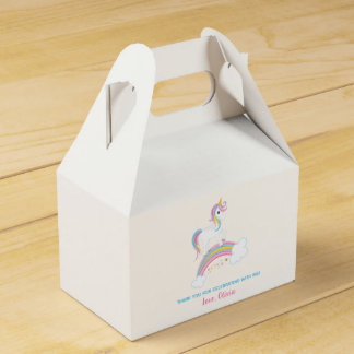 Magical Rainbow Unicorn Birthday Favor Box