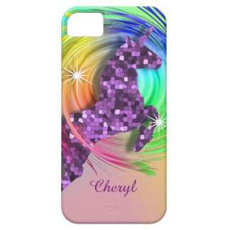 Magical Rainbow Unicorn Personalized iPhone 5 Covers