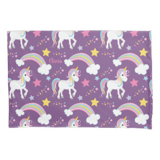 Magical Rainbow Unicorn Personalized Pillowcase