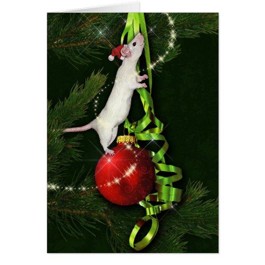 Magical Rat Holiday Greeting Card