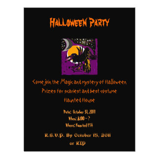Magical Raven Halloween party flyer