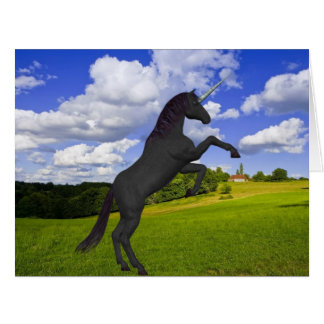 Magical Rearing Unicorn Greeting Cards