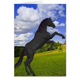 Magical Rearing Unicorn Greeting Card