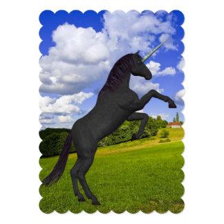 "Magical Rearing Unicorn 5"" X 7"" Invitation Card"