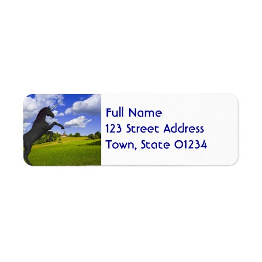 Magical Rearing Unicorn Labels