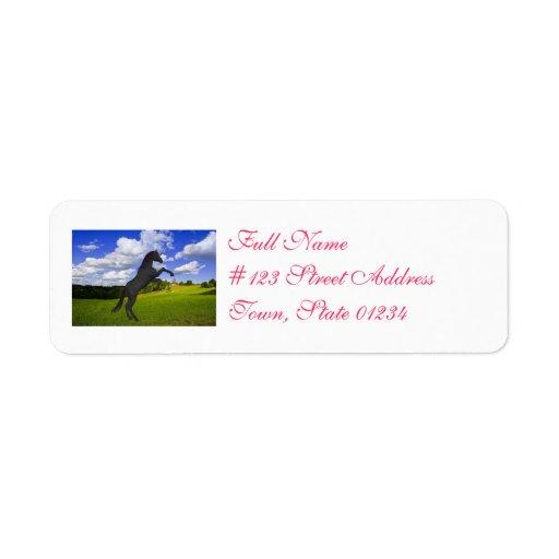 Magical Rearing Unicorn Custom Return Address Labels