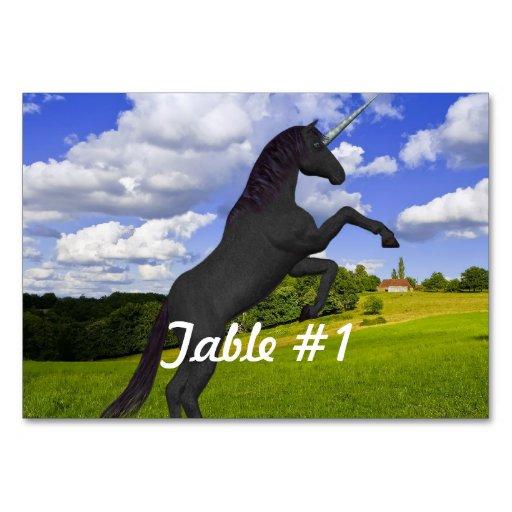 Magical Rearing Unicorn Table Card