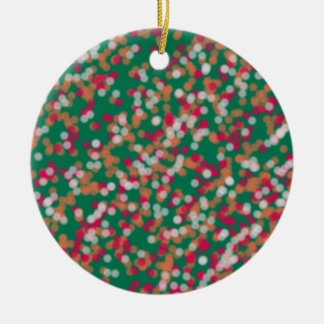 magical sand and star with random color round ceramic ornament