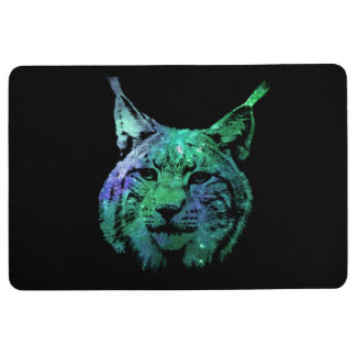 Magical Space Lynx | fascinating Galaxy Wild Cat Floor Mat