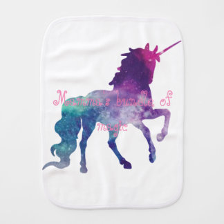 Magical Sparkly Prancing unicorn Burp Cloth
