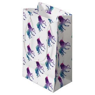 Magical Sparkly Prancing unicorn Small Gift Bag