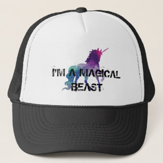 Magical Sparkly Prancing unicorn Trucker Hat
