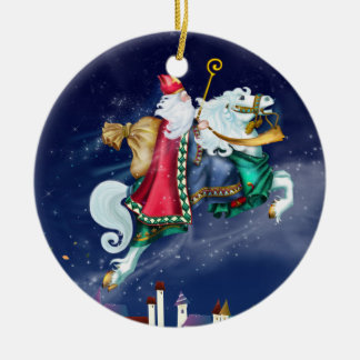 Magical St. Nicholas -  Santa - SRF Ceramic Ornament