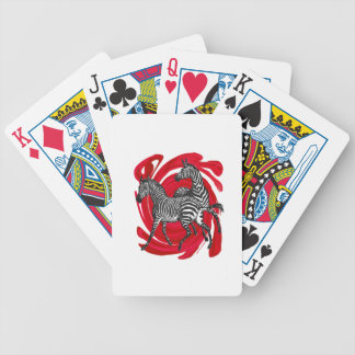 Magical Stripes Bicycle Playing Cards